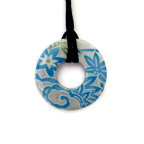 washer pendant – japanese paper 009