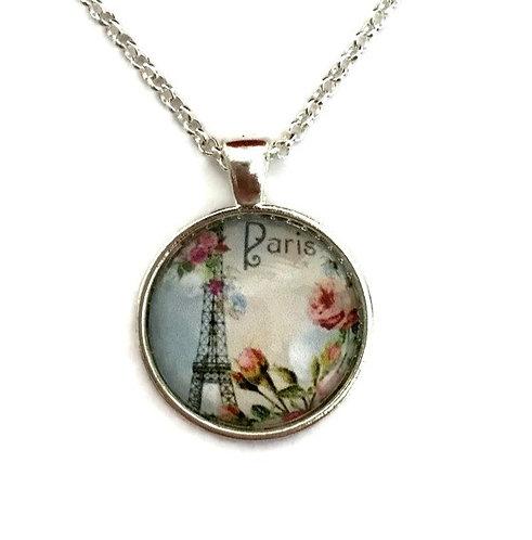 Paris with flower necklace