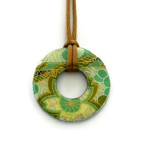 washer pendant – japanese paper 020