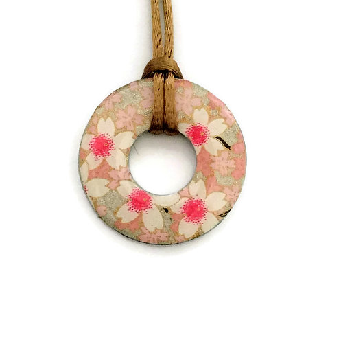 washer pendant – japanese paper 049