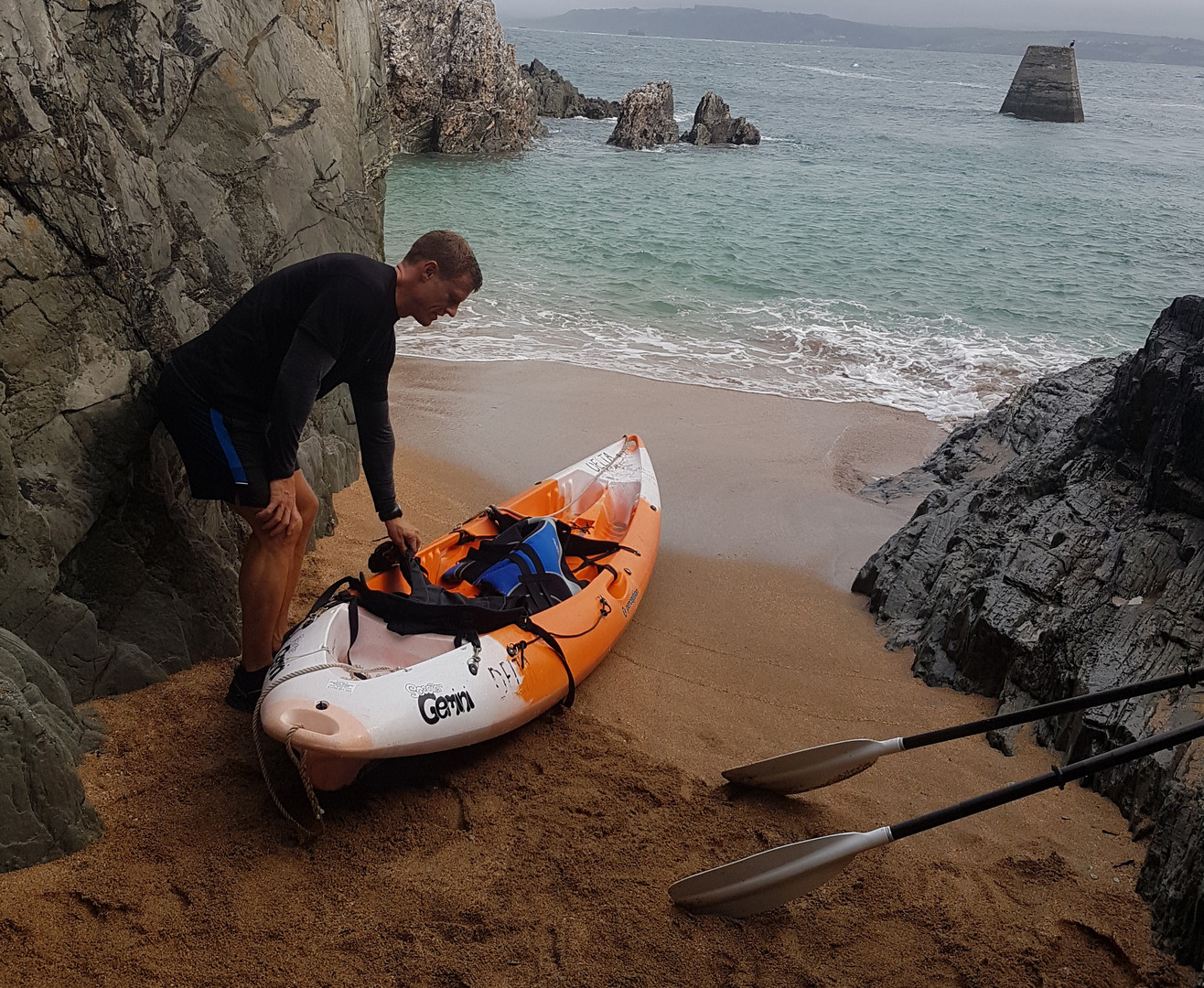 Kayak in Cawsand Bay