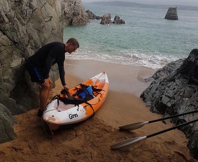 Kayak in Cawsand Bay