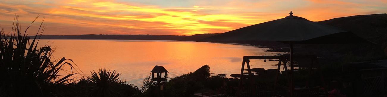 Sunset over Rame Head