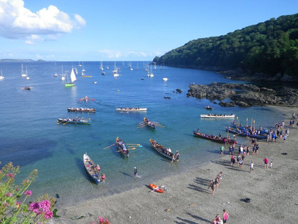 Gig Boats in Cawsand Bay