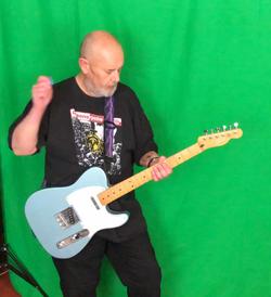 Garry recording Music Video 1