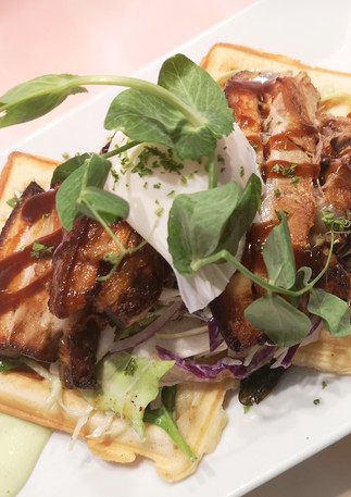 Pork Belly on Waffle