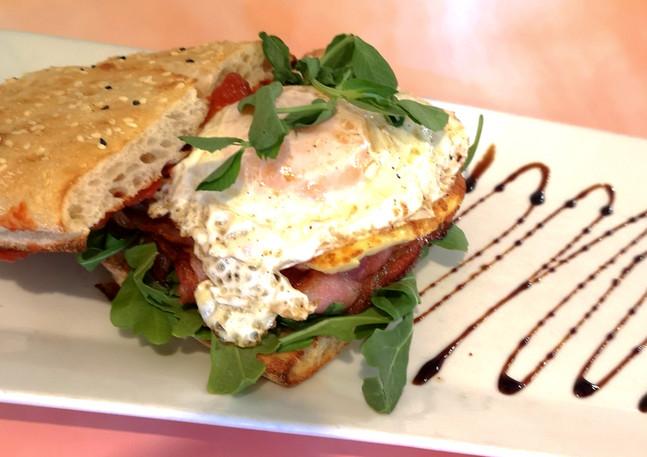 Bacon & Haloumi Turkish Sandwich