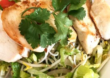 Crispy Rice Noodle Chicken Salad