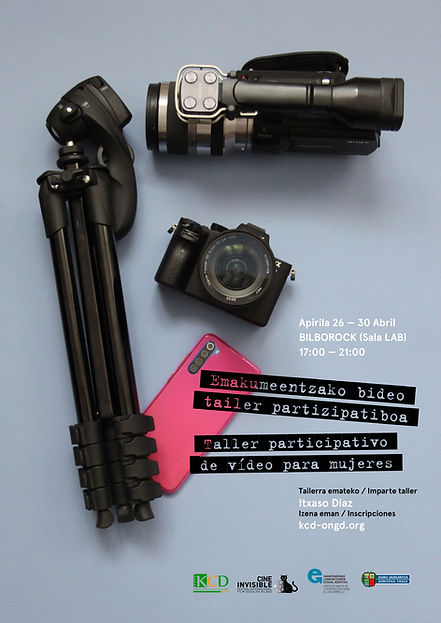 Cartel Taller participativo de vídeo par