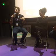 Presentacion Foro de Rene Mitri:Gorka Lopez Arantzamendi, Rene Mitri y Iñaki Makazaga (responsable de prensa)