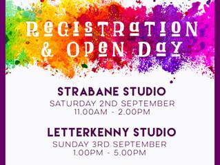 OPEN & REGISTRATION DAYS!