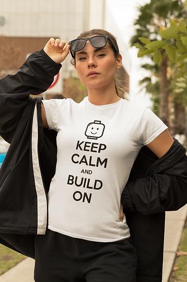 Keep Calm and Build On Tee (Adult)
