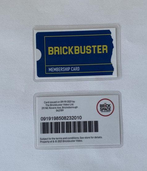 Brickbuster Membership Card