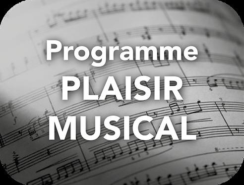 Programme PLAISIR MUSICAL