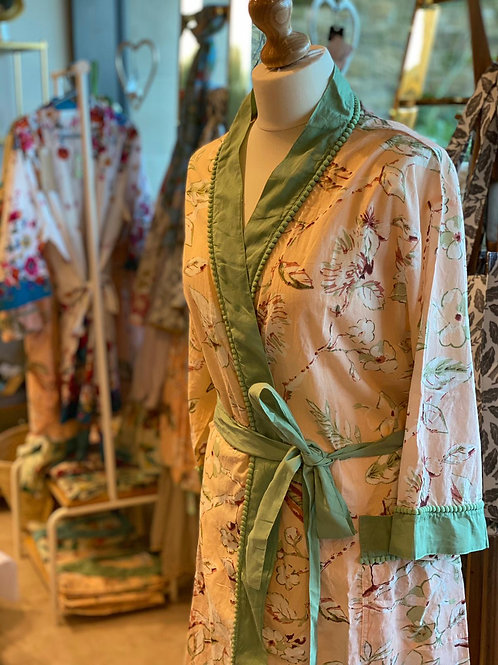 Peach Blossom Dressing Gown