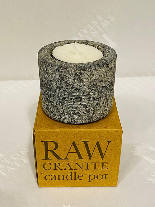 Raw Granite Candle Pot