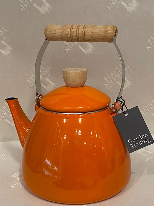 Stove Kettle in Orange - Enamel