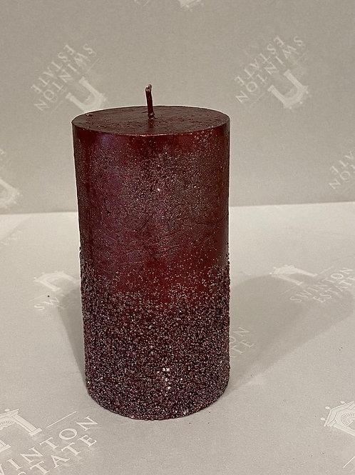 Glitter Pillar Candle