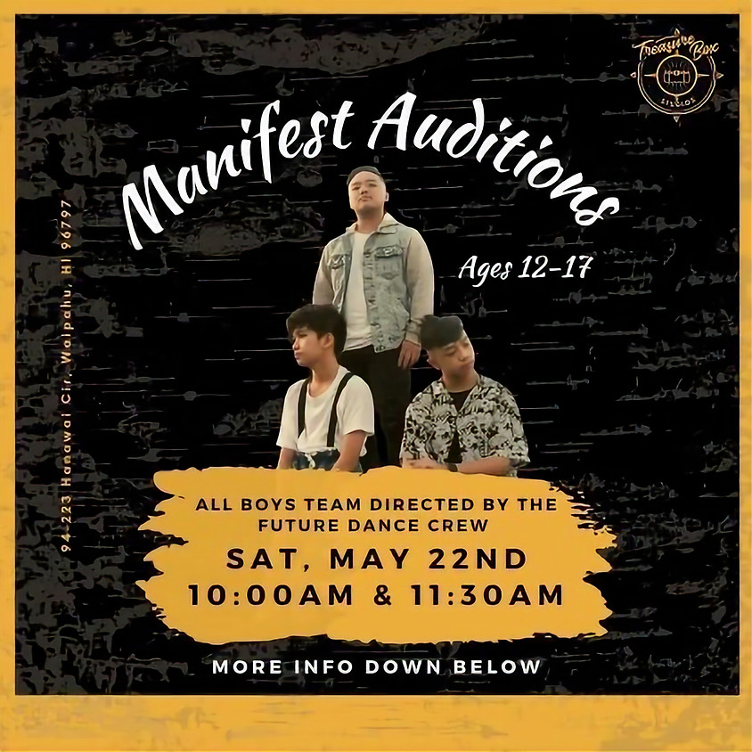 Manifest Auditions Session 1