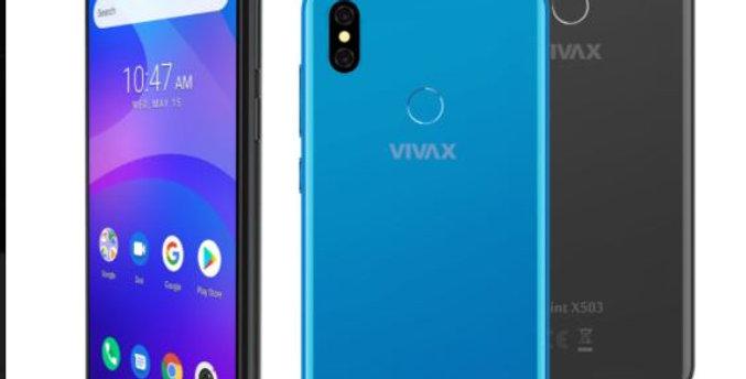 Vivax Handy/ grau & blau/ 16Gb/5,7zoll/13Mgp Kamera
