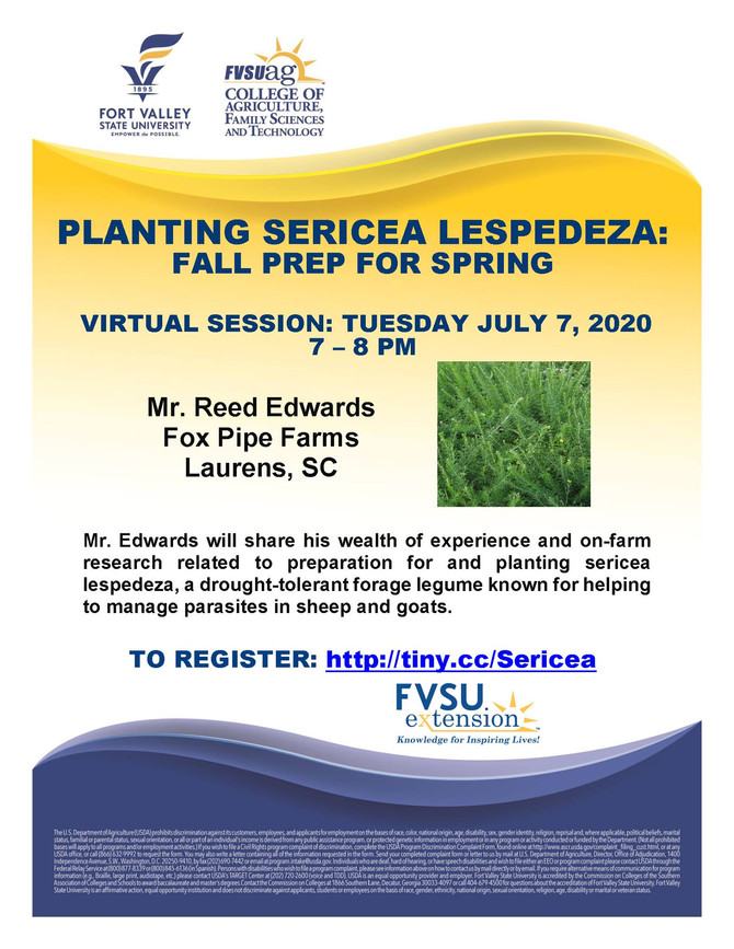 Webinar: Planting Sericea Lespedeza