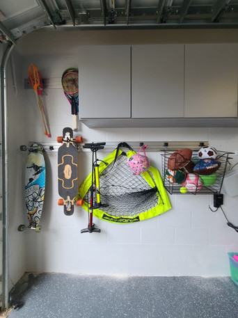 Garage Cabinets with Omni Track