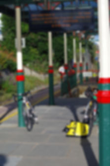 Ulverston railway station with bikes