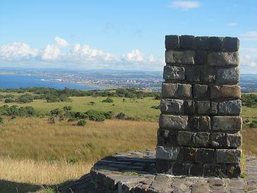 Top, column, pillar, Brown Carrick hill, Ayrshire