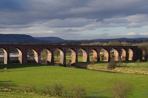 Whalley, viaduct, Calder, railway, bridge, lancashire