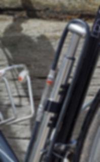 Lezyne Micro Floor Pump on bicycle