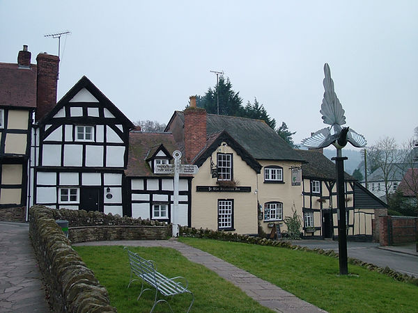 Weobley timber framed black white village