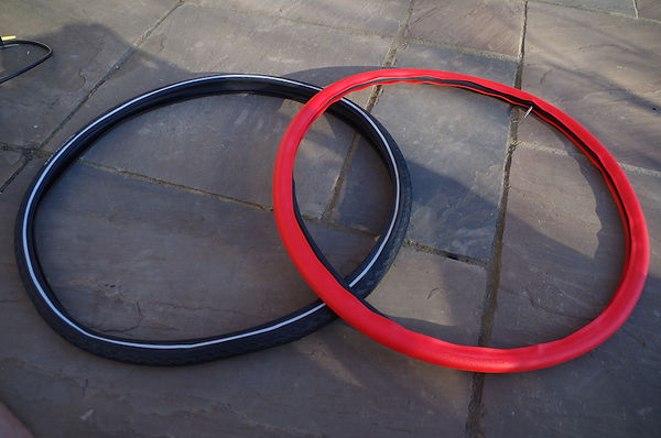 bicycle cycle bike trye tire insert tube tannus