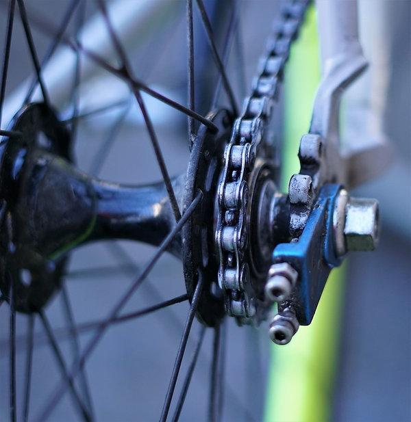 chain bike bicycle cycle rad velo hub tensioner