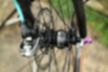 disc disk brake dynamo hub bicycle cycl velo bike front wheel