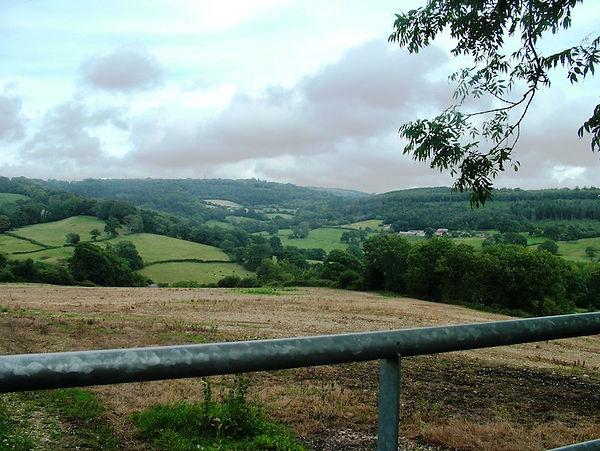 Fields hills landscape somerset dorset england