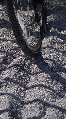Deep gravel on cycle track