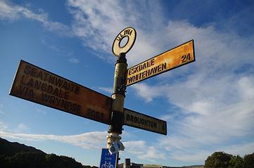 Signpost, Ulpha, Cumbria, Duddon Valley, Dunnerdale, Lake District