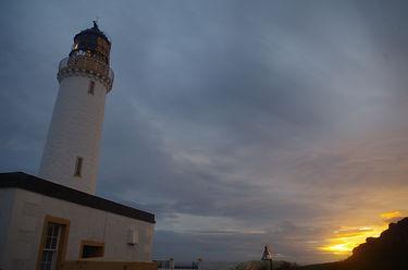 Mull of galloway lighthouse evening sunset