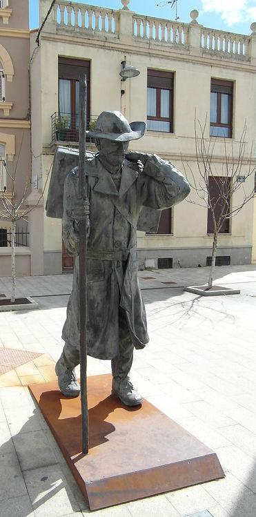 Pilgrim Statue Way of Saint James Camino Santiago