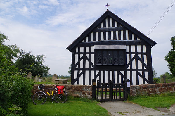 Melverley, Church, Shropshire, cycleway, timber, framed
