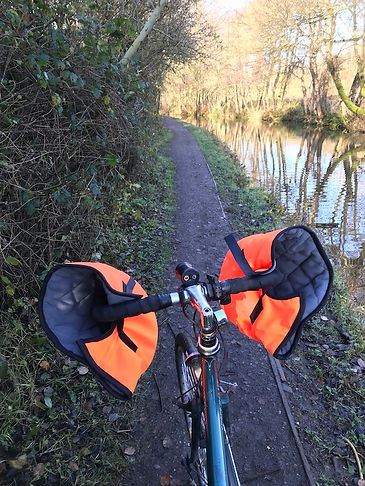 canal towpath cycle route bicycle raval drop bar gloves