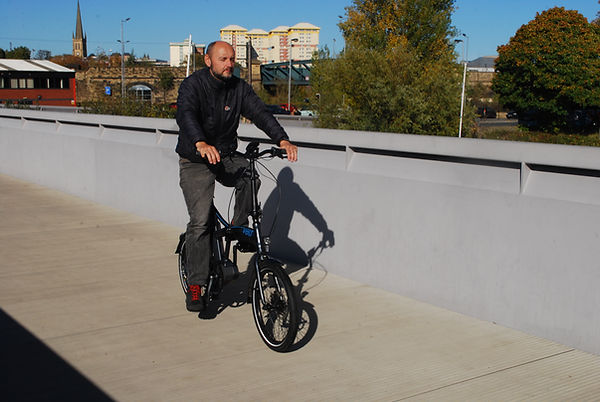 Volt Axis folding E-bike power assist folder test review