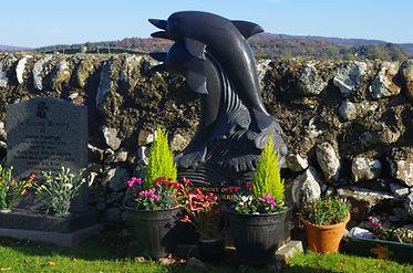 Dolphin headstone memorial Colvend Church kirk
