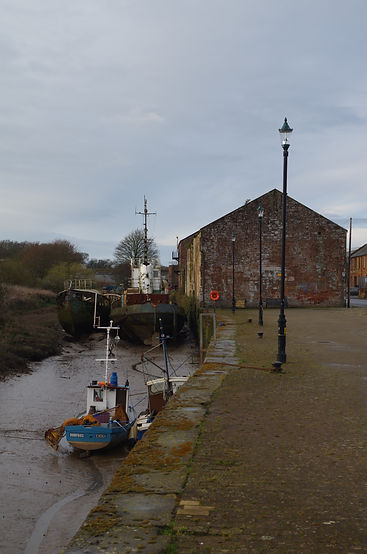 Annan's harbour, one starting point for the Scottish C2C