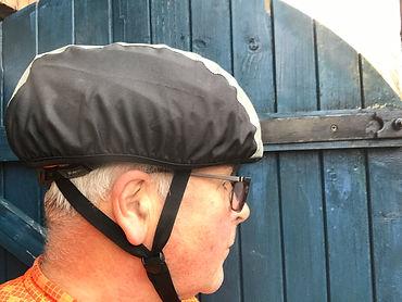 helmet cover cyclist