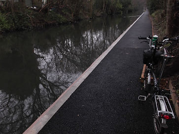 Grand Union canal towpath, cycle route