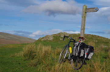 Touricycle, Dunnerdale Fells, Cumbria, Lake District