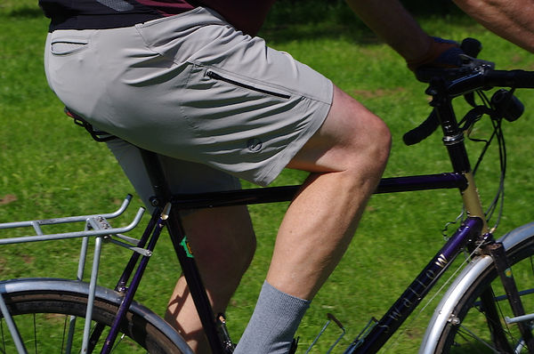 short length bicycle cyclist riding