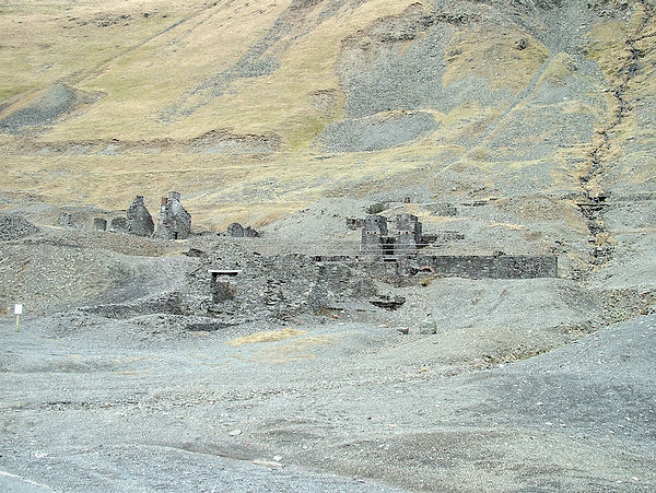 derelict industry mine cwmystwyth