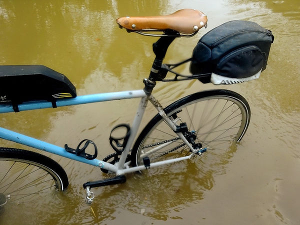 bicycle bike flood water cycling bicycle